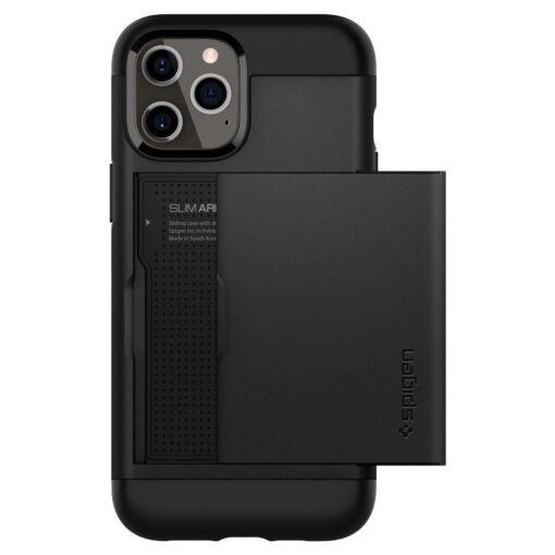 iPhone 12 12 Pro Spigen Slim Armor Cs kaarditaskuga ümbris silikoonist ja plastikust 3