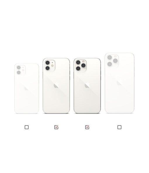 iPhone 12 12 Pro kaaned Ringke Air Ultra Thin silikoonist raamiga hall 12