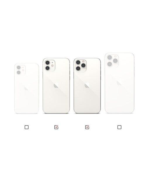 iPhone 12 12 Pro kaaned Ringke Air Ultra Thin silikoonist raamiga läbipaistev 12
