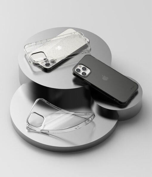 iPhone 12 12 Pro kaaned Ringke Air Ultra Thin silikoonist raamiga läbipaistev 4