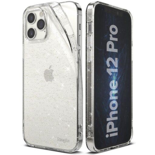 iPhone 12 12 Pro kaaned Ringke Air Ultra Thin silikoonist raamiga läbipaistev