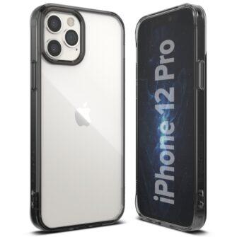 iPhone 12 12 Pro kaaned Ringke Fusion plastikust ja silikoonist raamiga hall 2