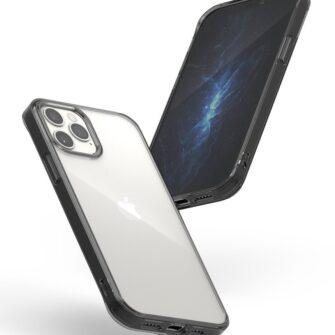iPhone 12 12 Pro kaaned Ringke Fusion plastikust ja silikoonist raamiga hall 4