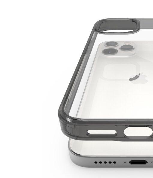 iPhone 12 12 Pro kaaned Ringke Fusion plastikust ja silikoonist raamiga hall 5