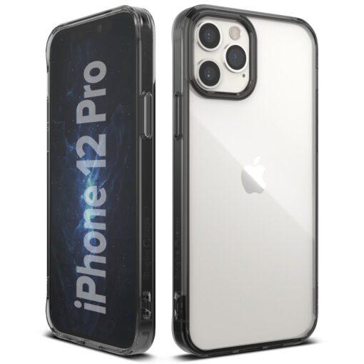 iPhone 12 12 Pro kaaned Ringke Fusion plastikust ja silikoonist raamiga hall