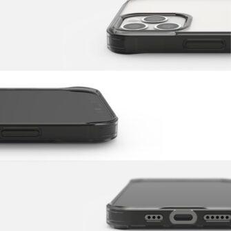 iPhone 12 12 Pro kaaned Ringke Fusion plastikust ja silikoonist raamiga hall 7