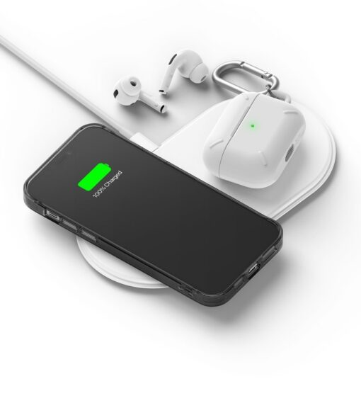 iPhone 12 12 Pro kaaned Ringke Fusion plastikust ja silikoonist raamiga hall 8
