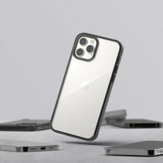 iPhone 12 12 Pro kaaned Ringke Fusion plastikust ja silikoonist raamiga hall 9