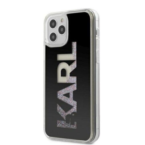 iPhone 12 Pro ümbris plastikust ja silikoonist servadega Karl Lagerfeld KLHCP12MKLMLBK