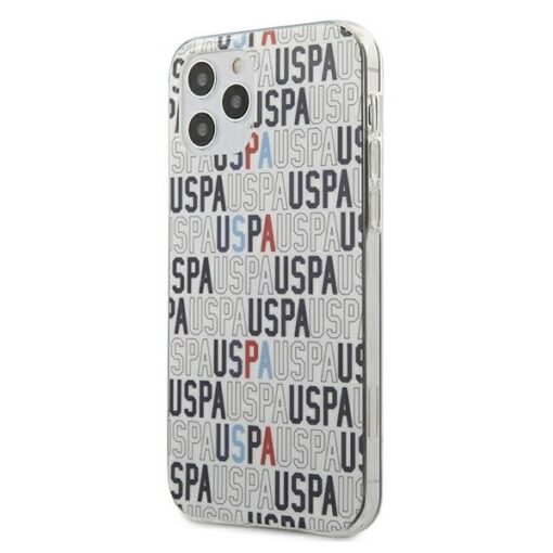 iPhone 12 Pro ümbris plastikust ja silikoonist servadega U.S. Polo Assn. USHCP12MPCUSPA6