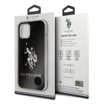 iPhone 12 Pro ümbris plastikust ja silikoonist servadega U.S. Polo Assn. USHCP12MTPUHRBK 2