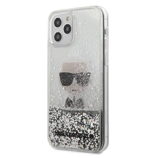 iPhone 12 Pro kaaned plastikust ja silikoonist servadega Karl Lagerfeld KLHCP12MGLIKSL