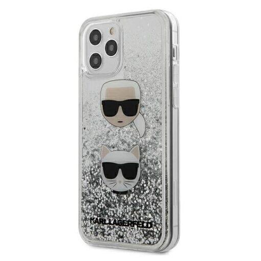 iPhone 12 Pro kaaned plastikust ja silikoonist servadega Karl Lagerfeld KLHCP12MKCGLSL