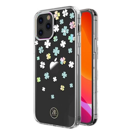 iPhone 12 iPhone 12 Pro ümbris Kingxbar Lucky elastsest plastikust Swarowski kristallikestega Clover 1