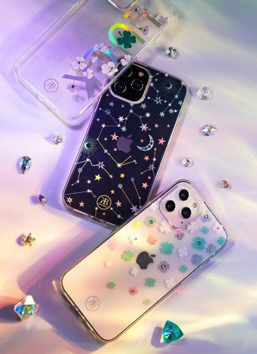 iPhone 12 iPhone 12 Pro ümbris Kingxbar Lucky elastsest plastikust Swarowski kristallikestega Clover 11
