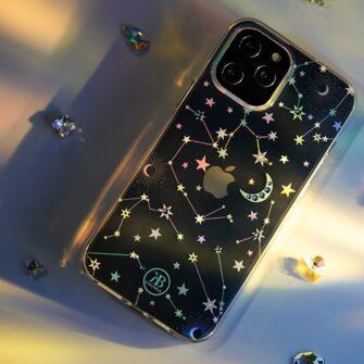 iPhone 12 iPhone 12 Pro ümbris Kingxbar Lucky elastsest plastikust Swarowski kristallikestega Clover 12