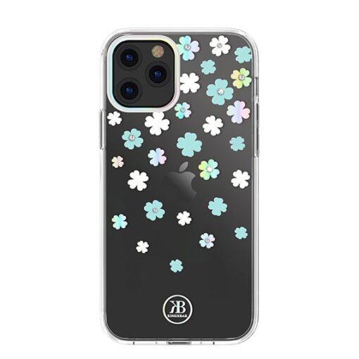 iPhone 12 iPhone 12 Pro ümbris Kingxbar Lucky elastsest plastikust Swarowski kristallikestega Clover