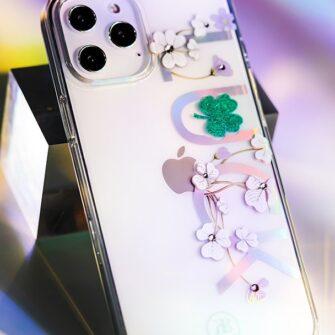 iPhone 12 iPhone 12 Pro ümbris Kingxbar Lucky elastsest plastikust Swarowski kristallikestega Clover 9