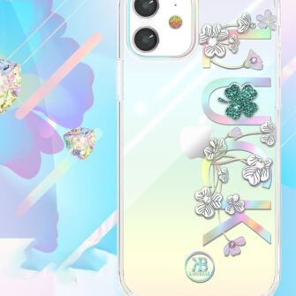 iPhone 12 iPhone 12 Pro ümbris Kingxbar Lucky elastsest plastikust Swarowski kristallikestega Luck 2