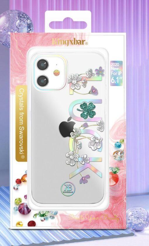 iPhone 12 iPhone 12 Pro ümbris Kingxbar Lucky elastsest plastikust Swarowski kristallikestega Luck 4