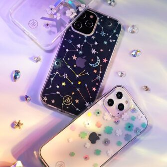 iPhone 12 iPhone 12 Pro ümbris Kingxbar Lucky elastsest plastikust Swarowski kristallikestega Zodiac 11