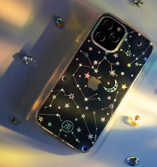 iPhone 12 iPhone 12 Pro ümbris Kingxbar Lucky elastsest plastikust Swarowski kristallikestega Zodiac 12