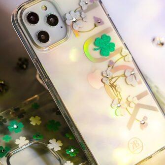 iPhone 12 iPhone 12 Pro ümbris Kingxbar Lucky elastsest plastikust Swarowski kristallikestega Zodiac 5