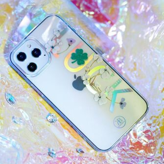 iPhone 12 iPhone 12 Pro ümbris Kingxbar Lucky elastsest plastikust Swarowski kristallikestega Zodiac 6