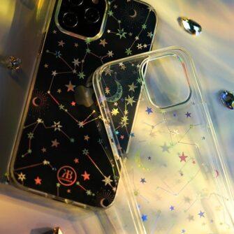 iPhone 12 iPhone 12 Pro ümbris Kingxbar Lucky elastsest plastikust Swarowski kristallikestega Zodiac 7
