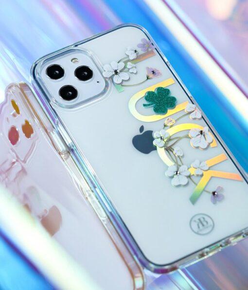 iPhone 12 iPhone 12 Pro ümbris Kingxbar Lucky elastsest plastikust Swarowski kristallikestega Zodiac 9