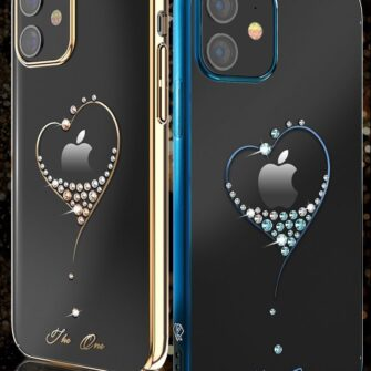 iPhone 12 iPhone 12 Pro ümbris Kingxbar Wish elastsest plastikust Swarowski kristallikestega kuldne 2