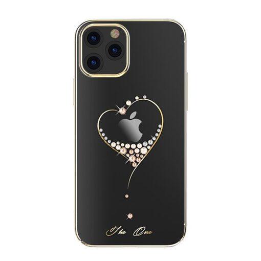 iPhone 12 iPhone 12 Pro ümbris Kingxbar Wish elastsest plastikust Swarowski kristallikestega kuldne