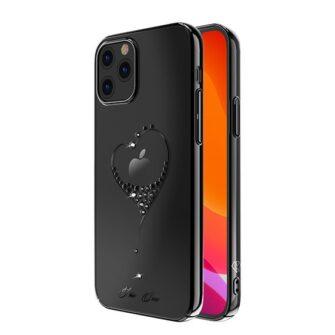 iPhone 12 iPhone 12 Pro ümbris Kingxbar Wish elastsest plastikust Swarowski kristallikestega must 1