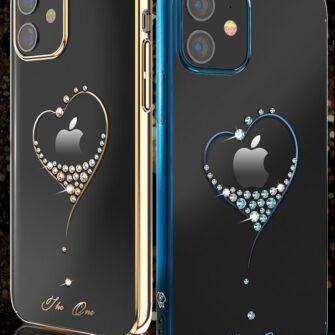 iPhone 12 iPhone 12 Pro ümbris Kingxbar Wish elastsest plastikust Swarowski kristallikestega must 2