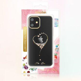 iPhone 12 iPhone 12 Pro ümbris Kingxbar Wish elastsest plastikust Swarowski kristallikestega must 4