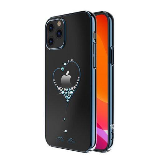 iPhone 12 iPhone 12 Pro ümbris Kingxbar Wish elastsest plastikust Swarowski kristallikestega sinine 1