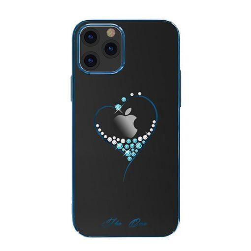 iPhone 12 iPhone 12 Pro ümbris Kingxbar Wish elastsest plastikust Swarowski kristallikestega sinine