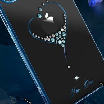 iPhone 12 iPhone 12 Pro ümbris Kingxbar Wish elastsest plastikust Swarowski kristallikestega sinine 8