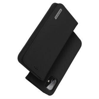 iPhone 12 iPhone 12 Pro kaaned päris nahast kaarditasku rahataskuga DUX DUCIS Wish must 1