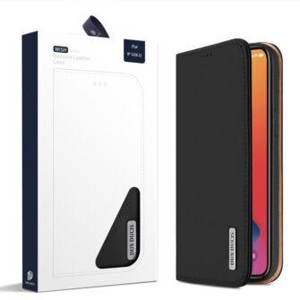 iPhone 12 iPhone 12 Pro kaaned päris nahast kaarditasku rahataskuga DUX DUCIS Wish must 4