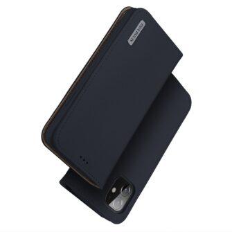 iPhone 12 iPhone 12 Pro kaaned päris nahast kaarditasku rahataskuga DUX DUCIS Wish sinine 1