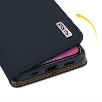 iPhone 12 iPhone 12 Pro kaaned päris nahast kaarditasku rahataskuga DUX DUCIS Wish sinine 6