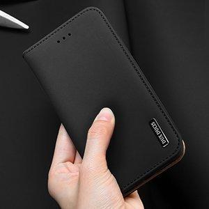 iPhone 12 iPhone 12 Pro kaaned päris nahast kaarditasku rahataskuga DUX DUCIS Wish sinine 9