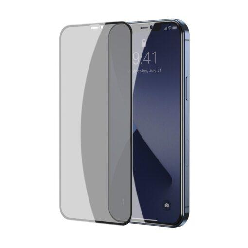 iPhone 12 mini kaitseklaas privaatsusfiltriga täisekraan 0.23mm 2tk 1