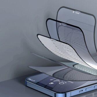 iPhone 12 mini kaitseklaas privaatsusfiltriga täisekraan 0.23mm 2tk 10
