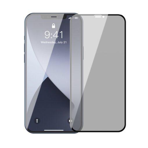 iPhone 12 mini kaitseklaas privaatsusfiltriga täisekraan 0.23mm 2tk