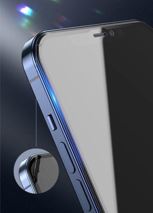 iPhone 12 mini kaitseklaas privaatsusfiltriga täisekraan 0.23mm 2tk 9