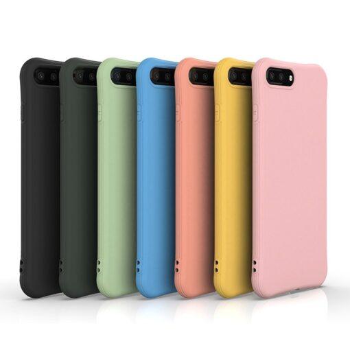 iPhone 7 ja 8 Plus ümbris silikoonist tugevdatud nurkadega must 5