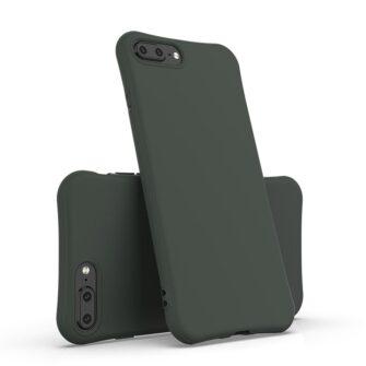 iPhone 7 ja 8 Plus ümbris silikoonist tugevdatud nurkadega punane 1