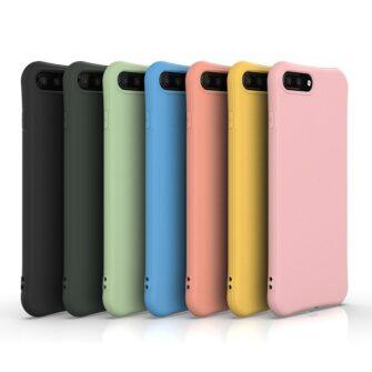 iPhone 7 ja 8 Plus ümbris silikoonist tugevdatud nurkadega punane 5